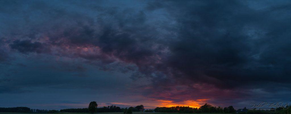 15. juni 2016 - Solnedgang over Damsholte