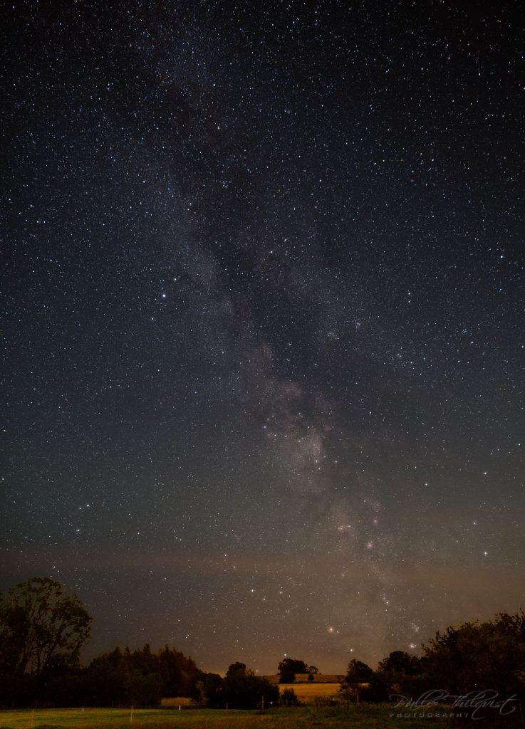 25. august - stjerner fra hestefolden bag huset