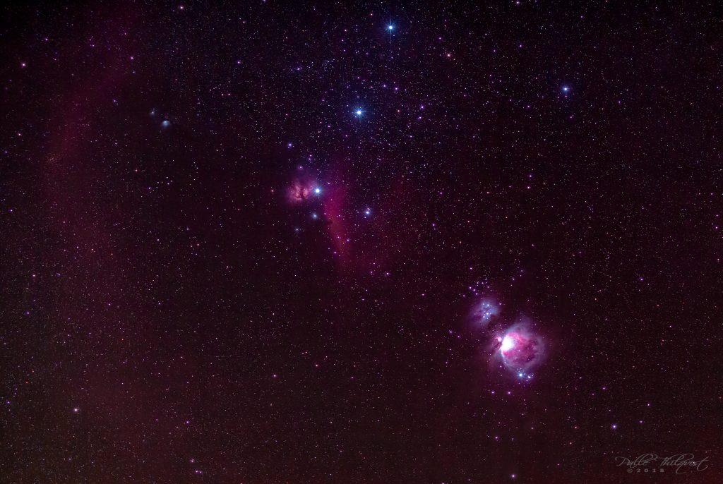 Orion Nebula og Bernard's Loop 19. oktober 2018